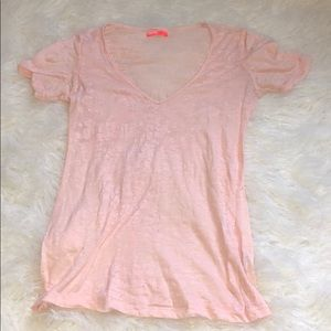 Baby Pink Acid Wash Urban Outfitters BDG Tee Shirt